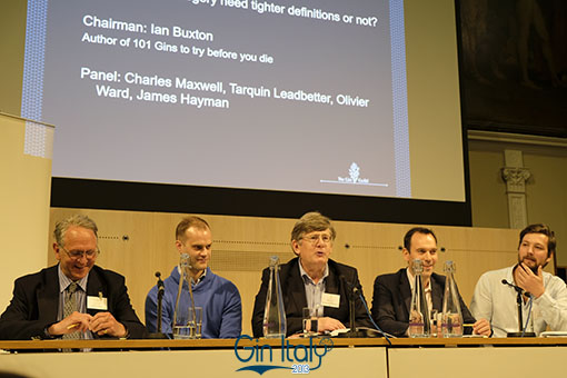 Panel Discussion Adapting or abused Charles Maxwell Olivier Ward Ian Buxton Christopher Hayman Tarquin Leadbetter Ginposium 2017 Gin Italy